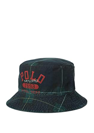 e62a64cb Polo Ralph Lauren Men`s Reversible Bucket Hat at Amazon Women's Clothing  store:
