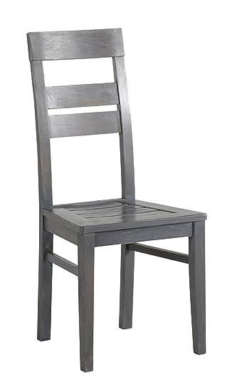 Esszimmer 2er Stuhl Parisot 8 Grau Möbel Set Titan Eiche CWdxQrBoeE