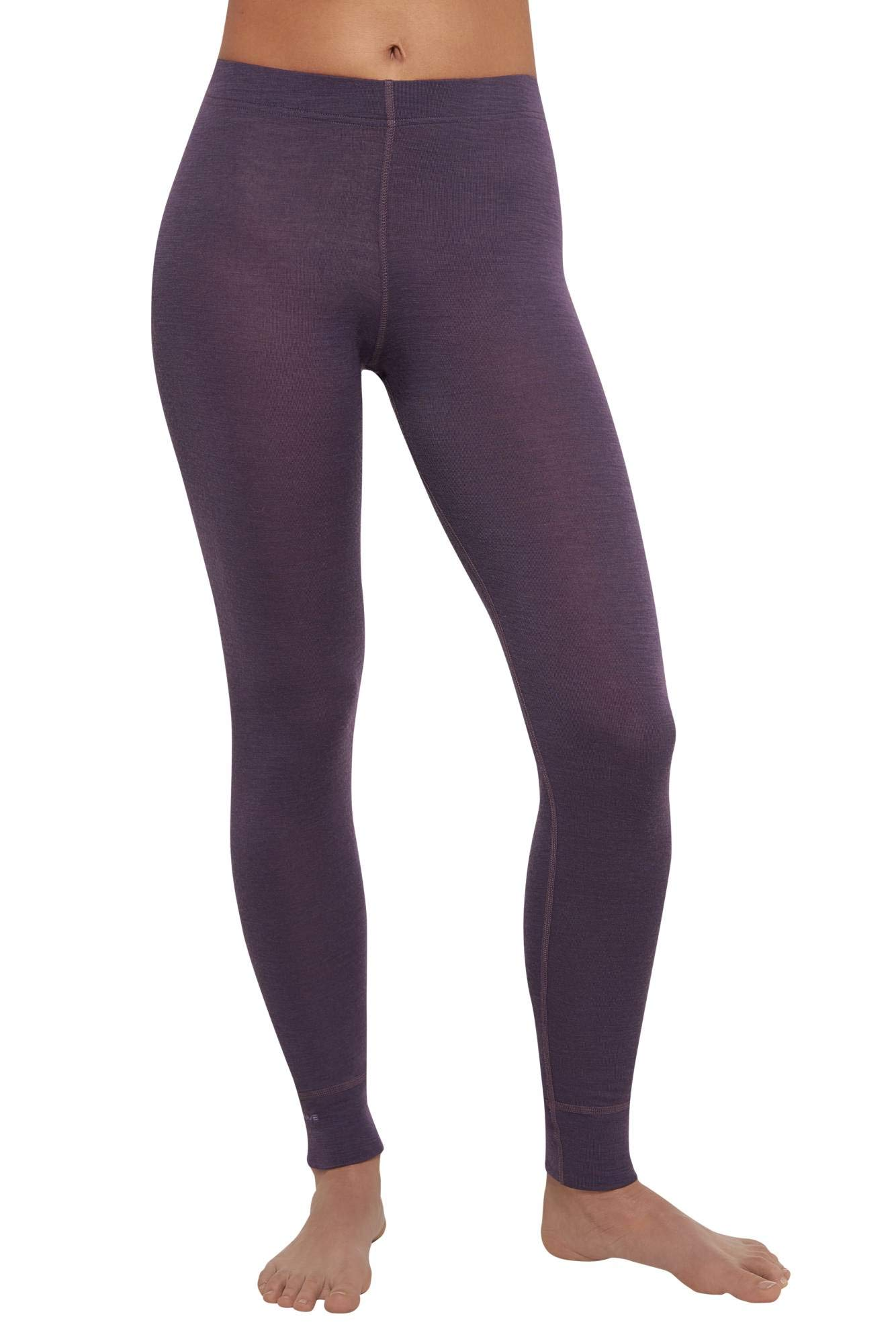 Thermowave - Merino Warm/Womens 100% Merino Wool 180 GSM Pants/Black Plum - Small by Thermowave