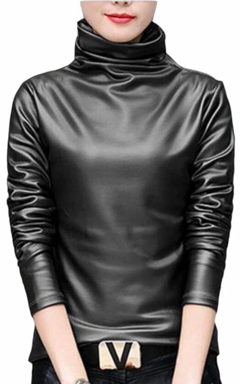 HTOOHTOOH Fashion Women Casual Button Long Sleeve Loose Tunic Blouses Shirt Tops