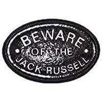 """Plata """"Beware of the Jack Russell"""" placa/puerta señal"""