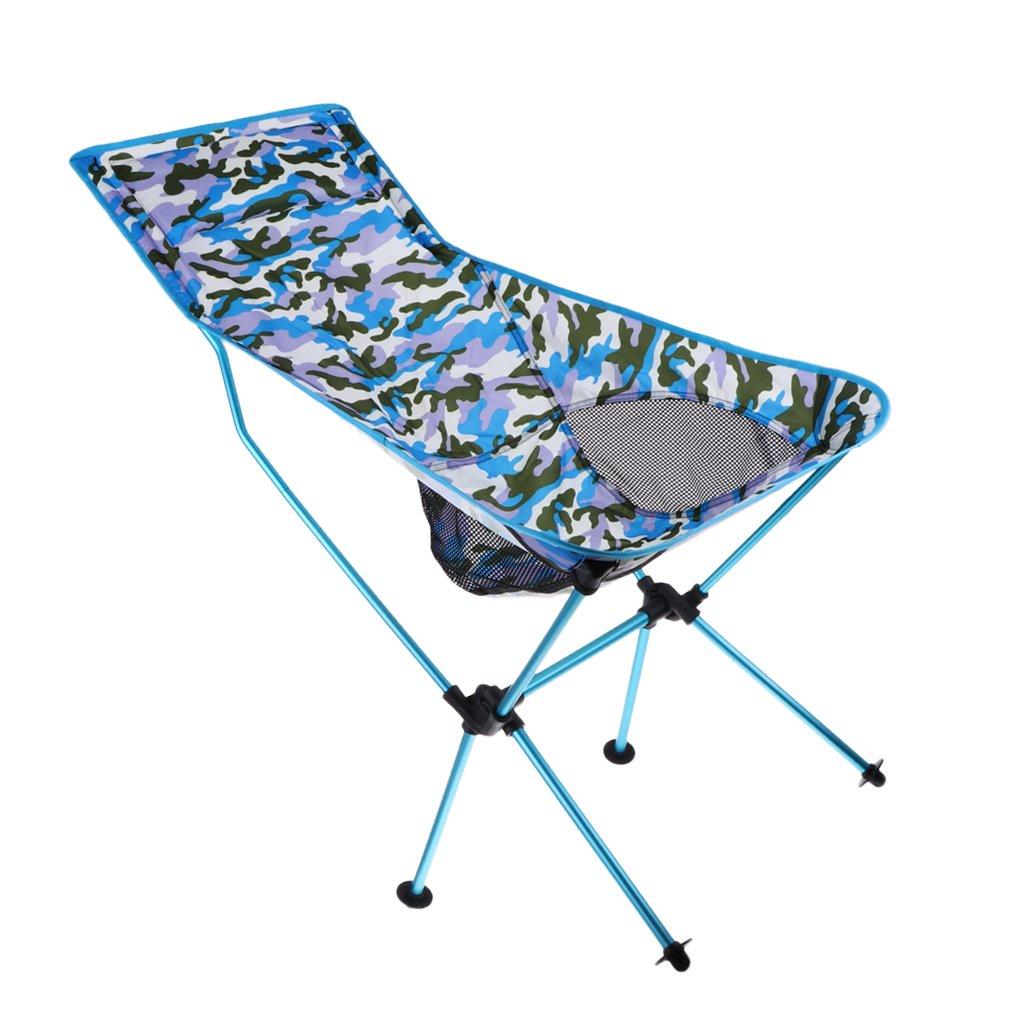 D DOLITY Aluminium Portable Klappstuhl Für Camping Angeln Reisen Garten Strand