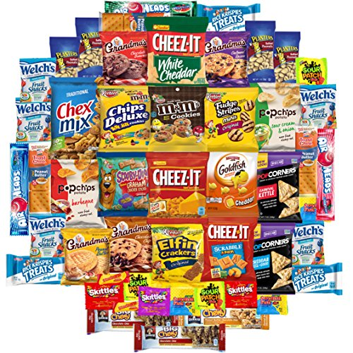 Cookies, Chips & Candies Care Package Variety Pack Bundle Sampler (50 Count) (Snacks Sampler)