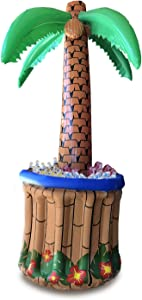 "GIFTEXPRESS 72"" Inflatable Palm Tree Cooler, Tropical Hawaiian Theme Party Decor, Perfect for Pool Party Summer BBQ Party and Luau Tiki Party, 6 Feet Inflatable Bar Cooler for Tropical Party Decorations"