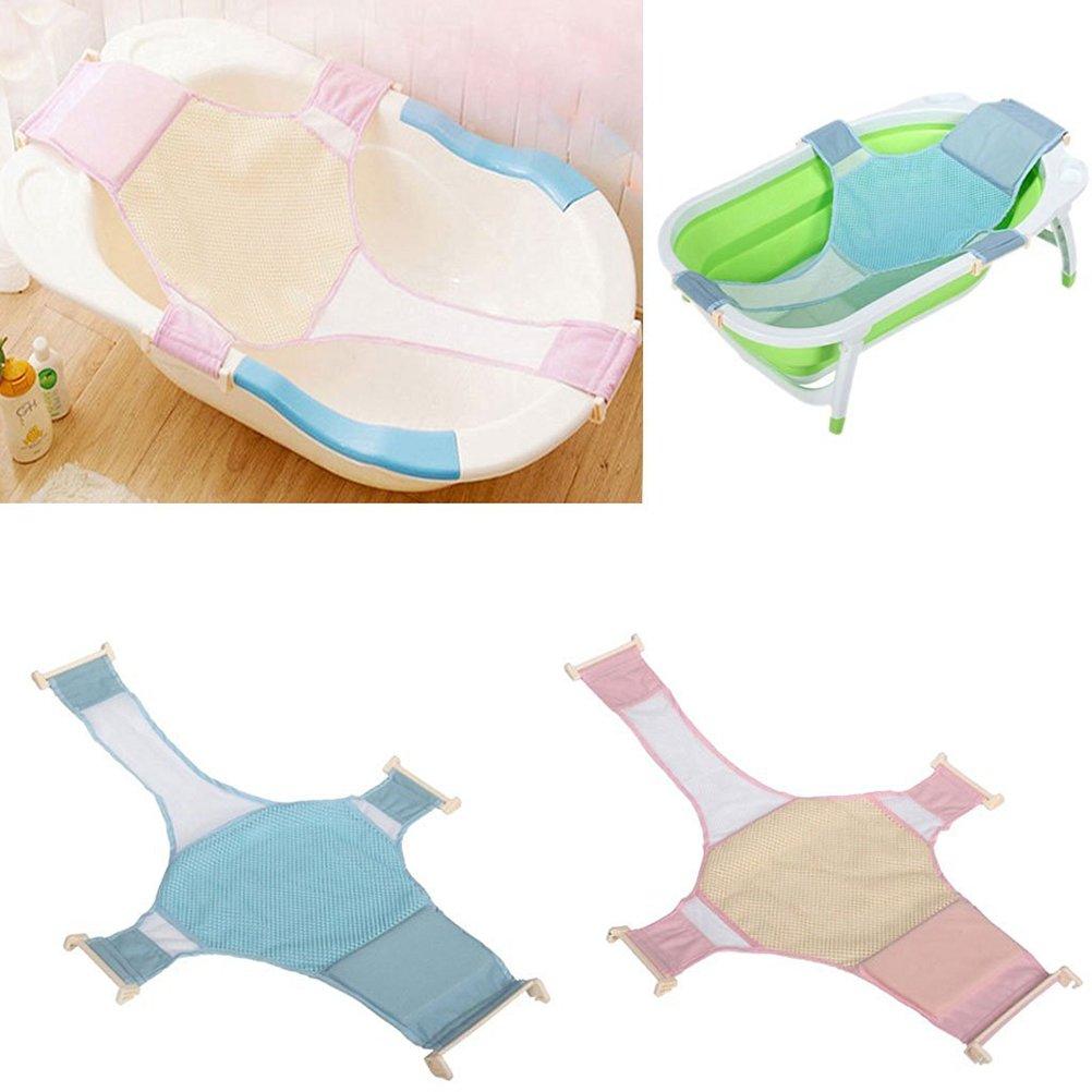 Ounona bagnetto retina per sedile per vasca da bagno, support Sling Infant vasca da bagno amaca (rosa)