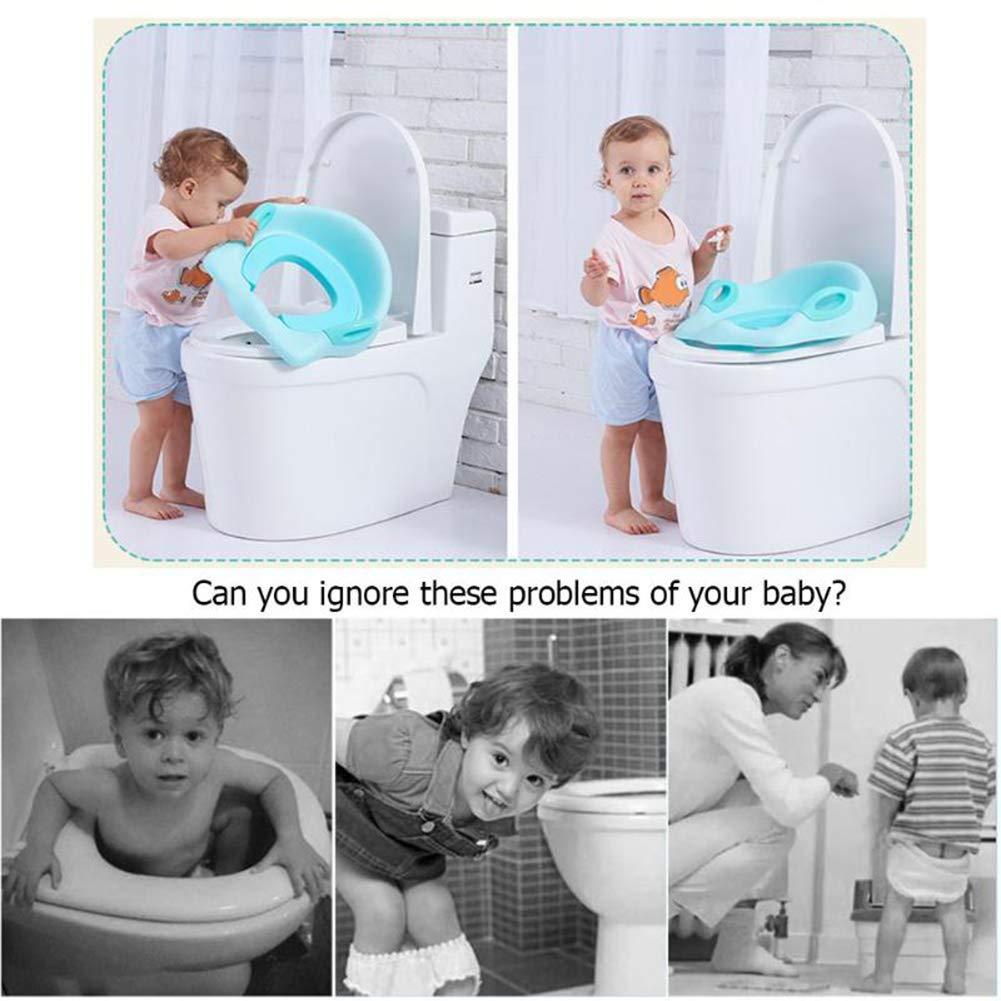 Kids Baby Toilets Splashproof urine Easy Clean Bathroom Square Oval Toilet Seat RLF LF Child Anti-Slip Toilet Seat Potty Training Seat PU Chair Pad