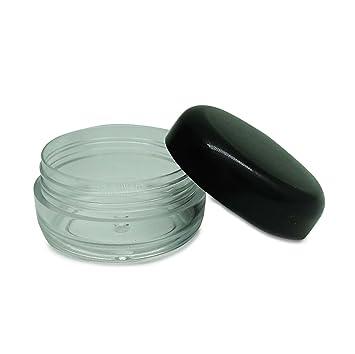7d37033fc9e8 Amazon.com : 6 Pcs Empty Clear Plastic Jars With Black Cap ...