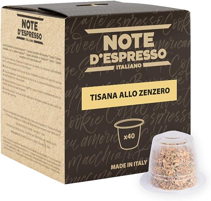 Tisana allo zenzero in capsule esclusivamente compatibili con sistema nespresso*- 80 g (40 x 2 g) B07WPD2LLR