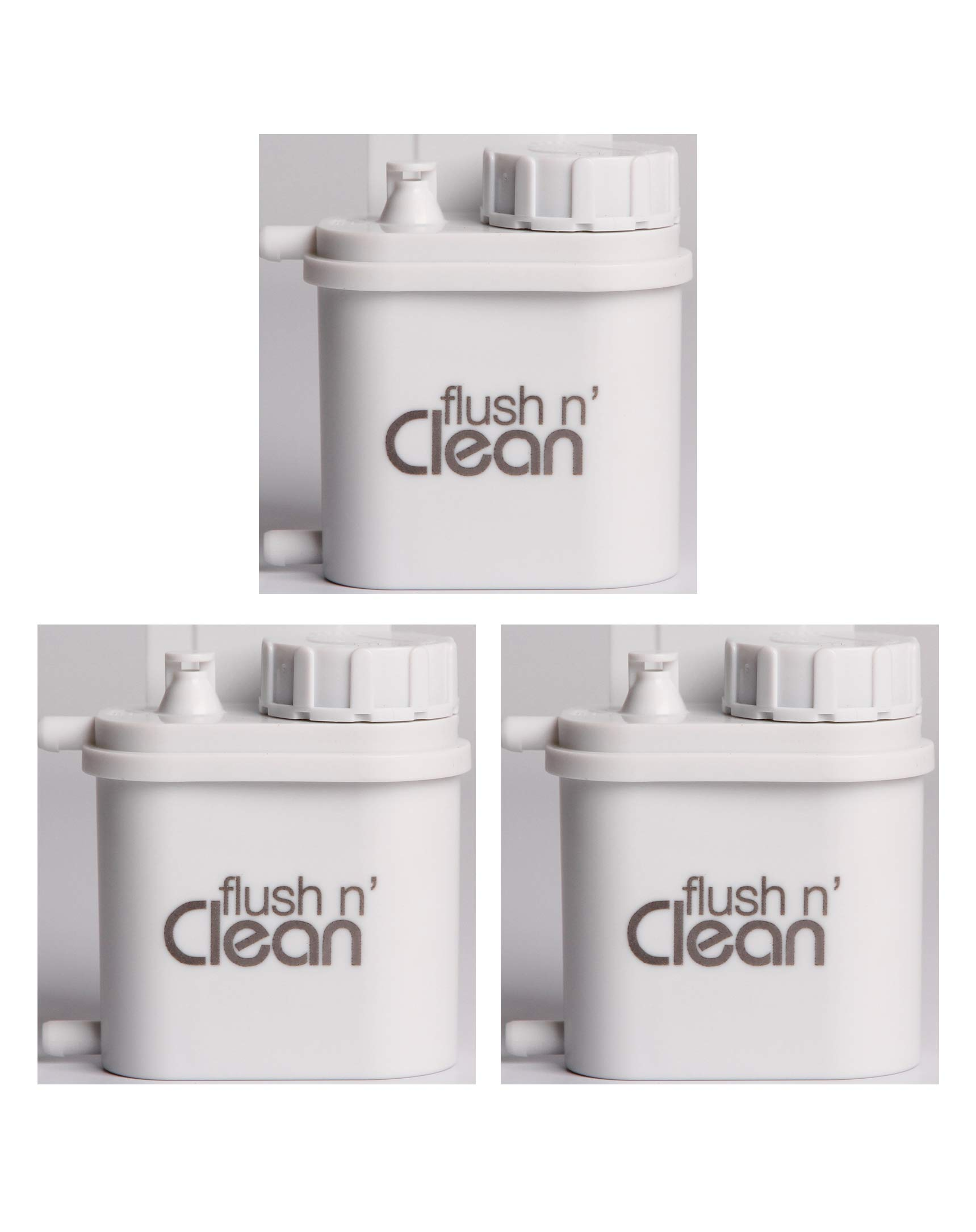 Flush n' Clean Toilet Bowl Cleaner Uses Standard Bromine Tablets - No Special Cartridges - Tablets Included - Fast Easy Installation