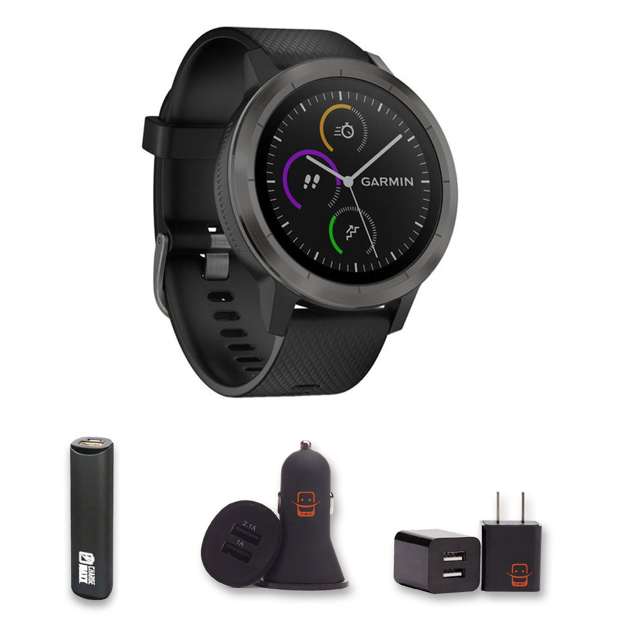 Amazon.com: Garmin Vivoactive 3 GPS Smartwatch PowerBank ...