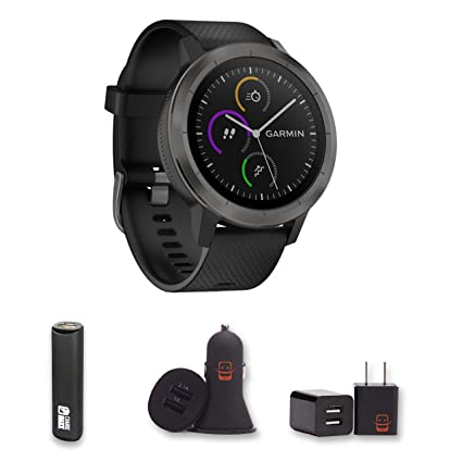 Amazon.com: Garmin Vivoactive 3 (Black/Gunmetal) GPS ...