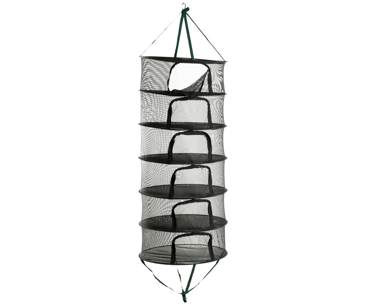 HydroFarm STACK!T 2' Drying Rack w/Zipper 2 FT Mesh Hanging Rack DR24UZIP
