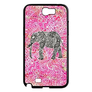 Customized Cover Case for Samsung Galaxy Note 2 N7100 (Colorful Elephant Design CCW-46705)