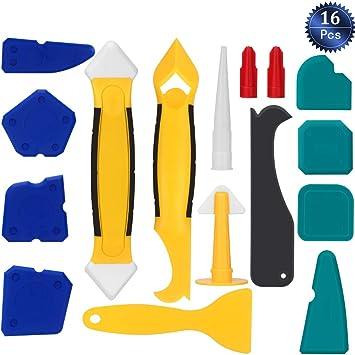 Sellador de Silicona Herramientas de Acabado Suavizante Kit de Herramientas para Calafateo Juego de boquillas y raspadores de calafateo Herramientas
