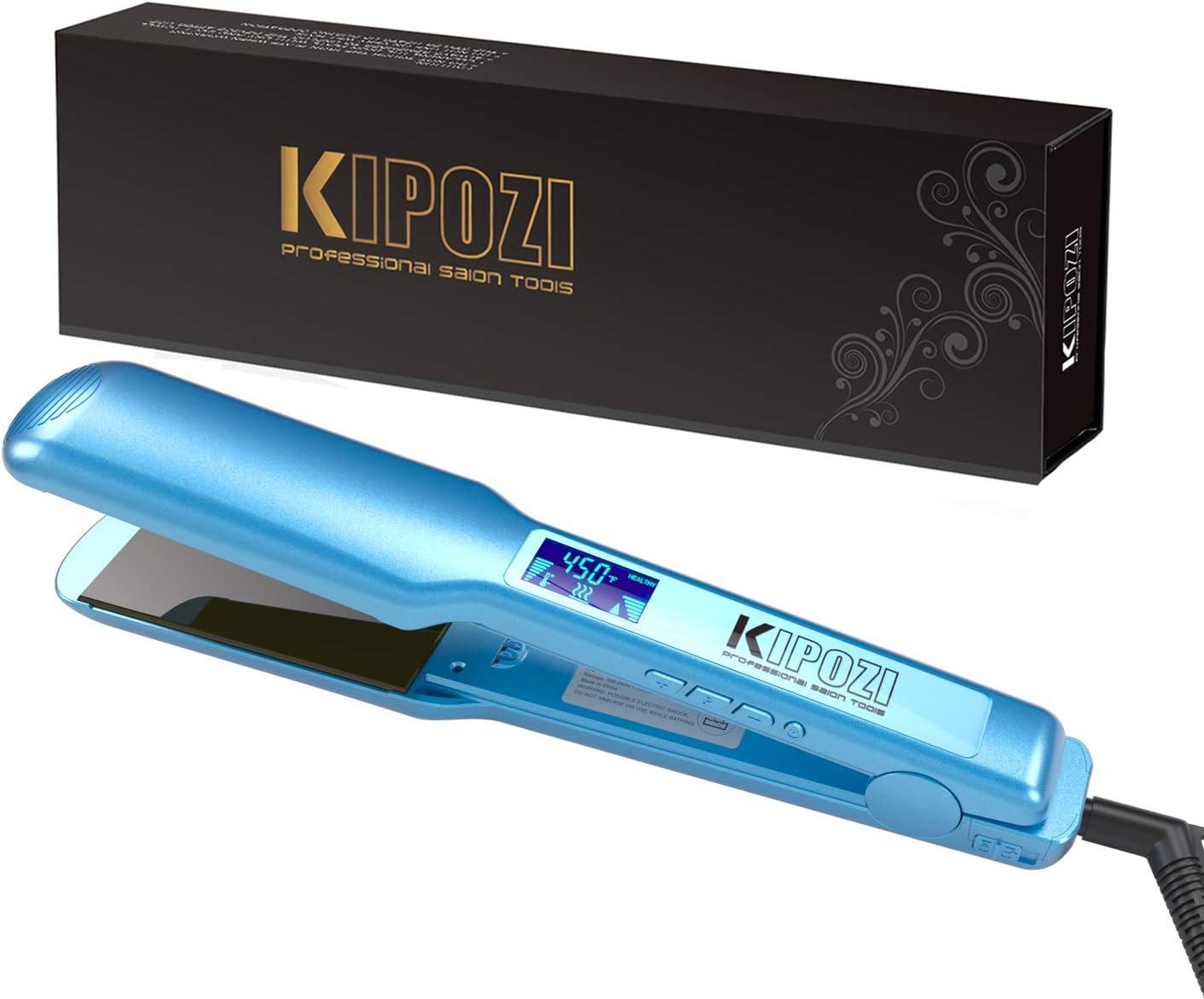 KIPOZI Pro Nano Titanium Hair Straightener Flat Iron with