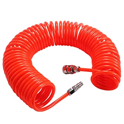 Tubo espiral compresor - WENTS 6M Rojo para compresor de aire Accesorios de bomba de aire