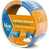 3M ScotchBlue Ruban Masquage pour Surfaces Délicates 36mm x 25m 1 Rouleau Bleu