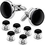 Rovtop Cufflinks and Studs Set for Tuxedo Shirts Business Wedding