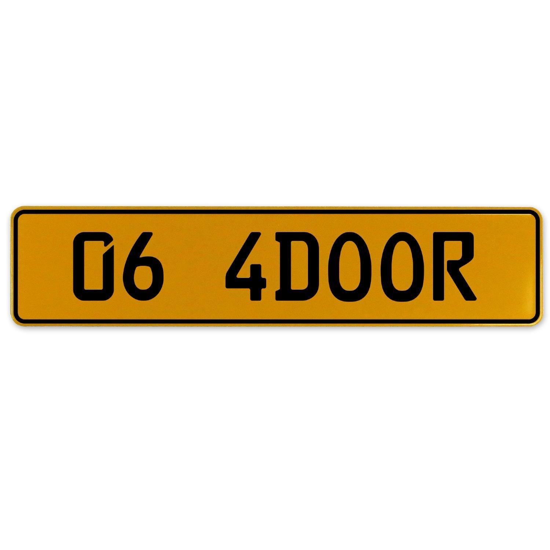 Vintage Parts 563118 06 4DOOR Yellow Stamped Aluminum European Plate