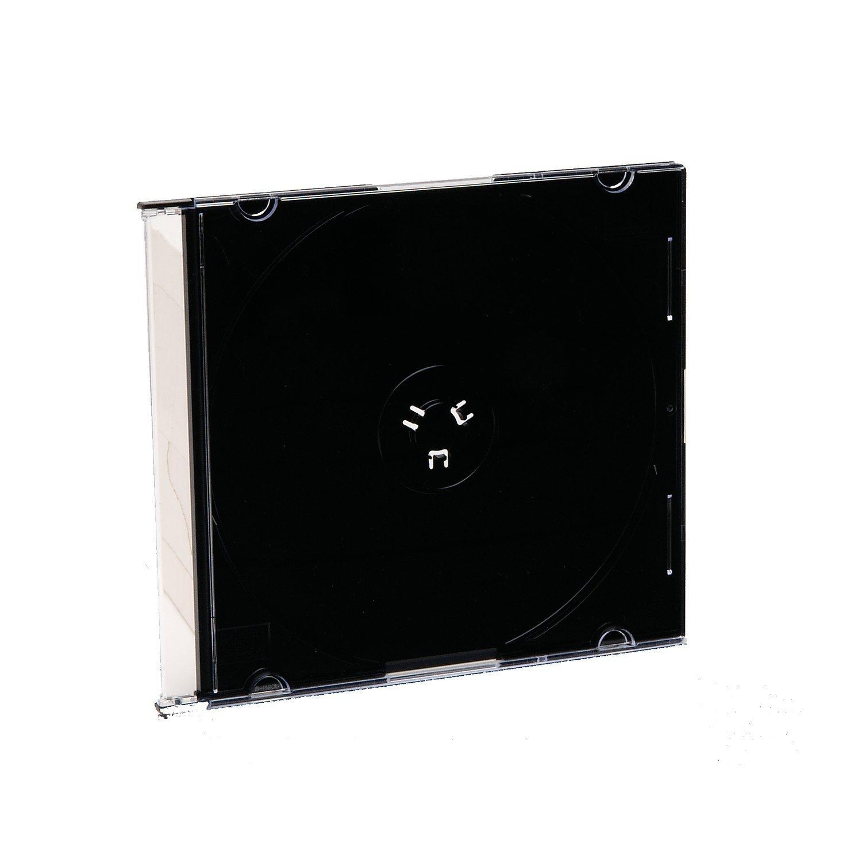 Verbatim CD/DVD Black Slim Jewel Cases - 200pk (bulk)