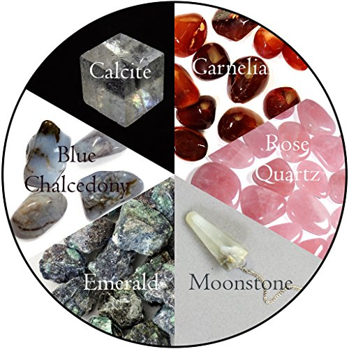 Cancer Zodiac Healing Bundle; 13pc Quality Handpicked Crystals, Astrological Stones for Patience, Love, Kindness, Confidence, Creativity and an Open Mind, All Natural gems: Raw and Polished Finishes