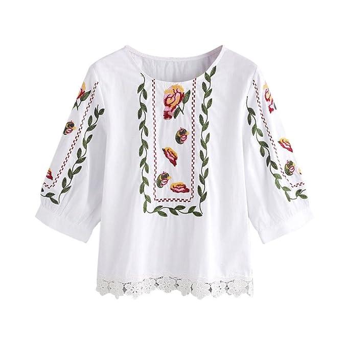 0c58f3dc313f21 LILICAT Frauen Spitze T-shirt Vinatge Kurzarm Weste Damen Sommer Shirt  Freizeit Bluse Chic Tank tops Hemd: Amazon.de: Bekleidung