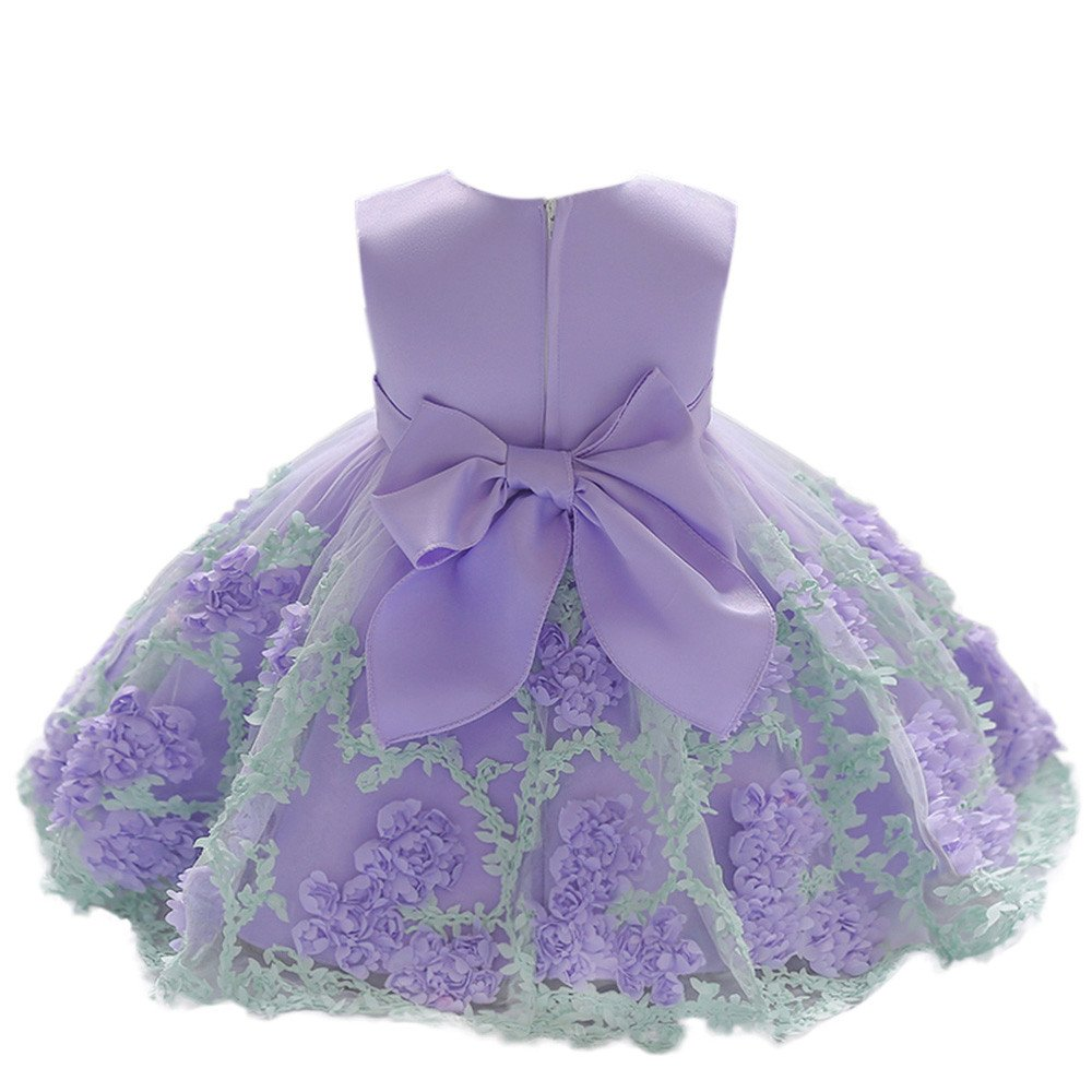 Walaka Robes B/éB/é Fille 2019 Mignonne Fleur B/éB/é Filles Princesse Tutu Robe Impression sans Manches Formelle V/êTements Robes