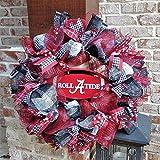 Flora Decor Alabama Crimson Tide Collegiate Wreath w Plate -26''