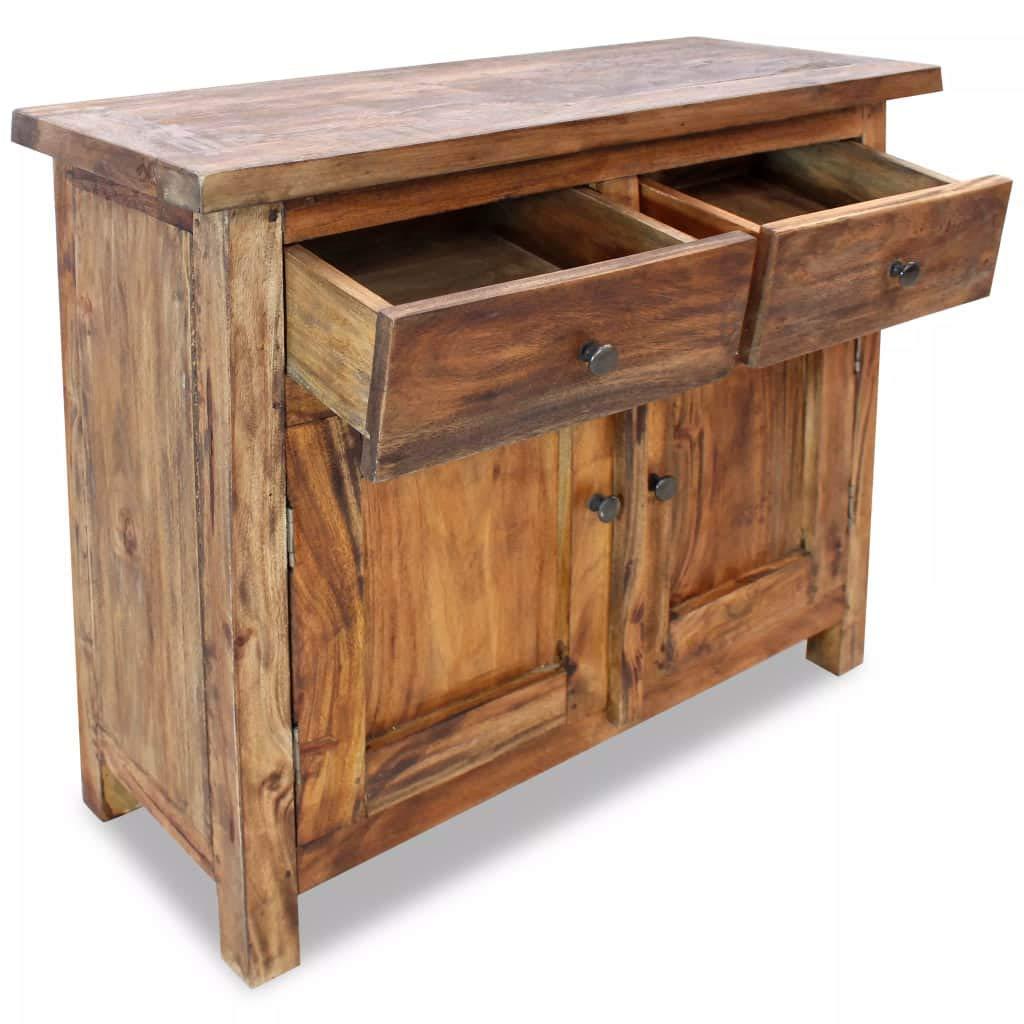 vidaXL Solid Wood Sideboard w/ 2 Doors 2 Drawers Side Cabinet Storage Cupboard by vidaXL (Image #5)