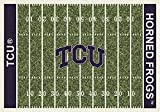 Milliken 4000018661 Texas Christian College Home Field Area Rug, 7'8'' x 10'9''