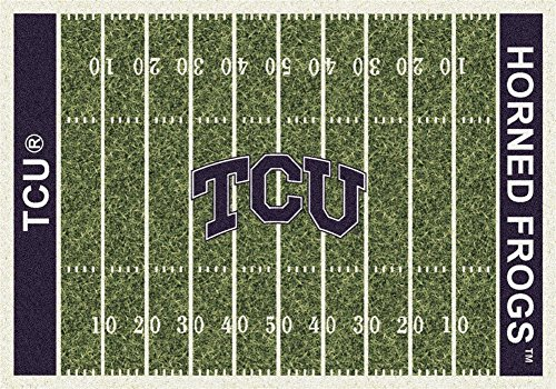 Milliken 4000018661 Texas Christian College Home Field Area Rug, 7'8'' x 10'9'' by Milliken