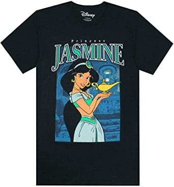 Algodón de Manga Corta de Disney Princesa Jasmine Camiseta de Las Mujeres: Amazon.es: Ropa y accesorios