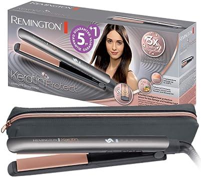 Oferta amazon: Remington S8598 Keratin Protect - Plancha de Pelo, Cerámica, Digital, Keratina, Sensor de Protección de Calor, Resultados Profesionales, Gris