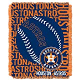 MLB Houston Astros 48 x 60-Inch Double Play Jacquard Triple Woven Throw
