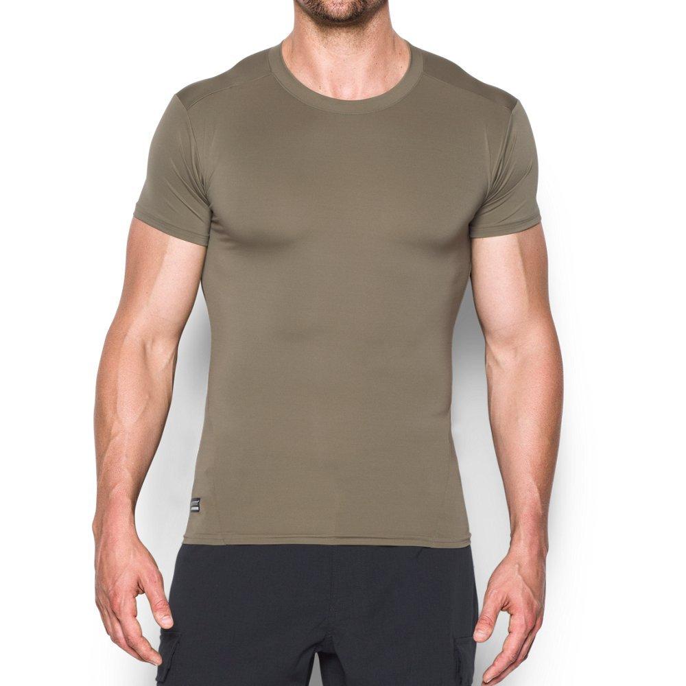 Under Armour Men's Tactical HeatGear Compression T-Shirt, Federal Tan/None, Medium
