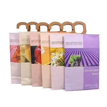 YUMSUM Fresh Kleidung Duftende Duftsäckchen 6 Pack geeignet für Schubladen Wandschränke Zimmer Kleiderschrank Badezimmer Cars