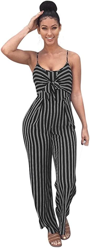 yibiyuan Women Comfy Stretch Print Denim Jumpsuit Overalls Loose Pant Romper