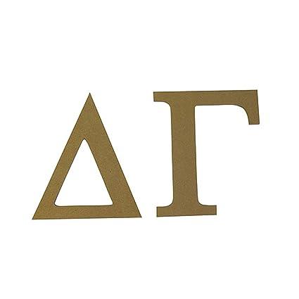 delta gamma 75 unfinished wood letter set