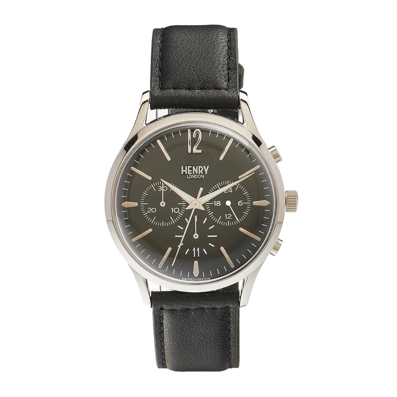 Henry London Unisex-Armbanduhr Edgware Chronograph Quarz Leder HL41-CS-0023