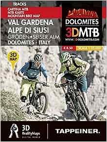 Cartina MTB Val Gardena-Alpe di Siusi. Cartina topografica 1:25000