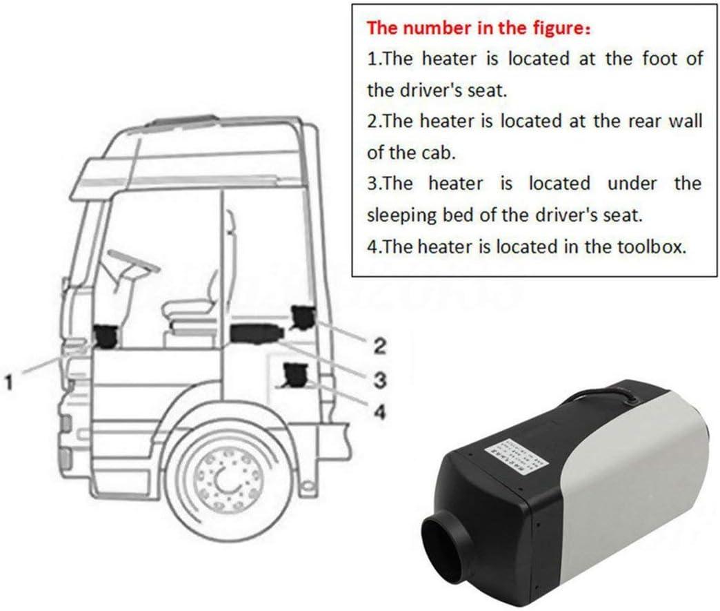 kit per emissioni 12V 8000W LCD Schalter Mezzo di trasporto aereo Diesel Heater Bassi Air Riscaldatore per Auto Camion Yachts Barche Camper Diesel Air Heater