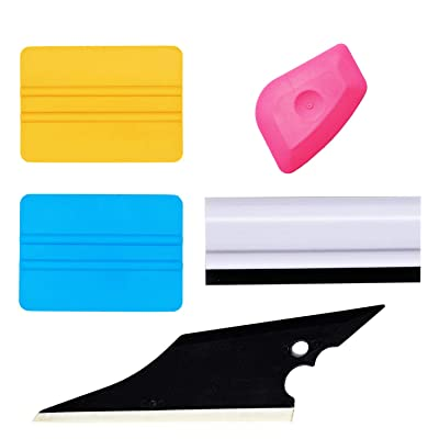 GUGUGI Car Vinyl Installation Tools Window Tint Kit for Film Vinyl Wrap Window Tint Includes Film Squeegees, Wrap Scrapers, Rubber Squeegee Water Blade: Automotive [5Bkhe1013309]