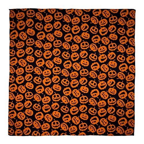 Halloween Carving Pumpkins - Black Bandana - Single Piece - 22x22 -