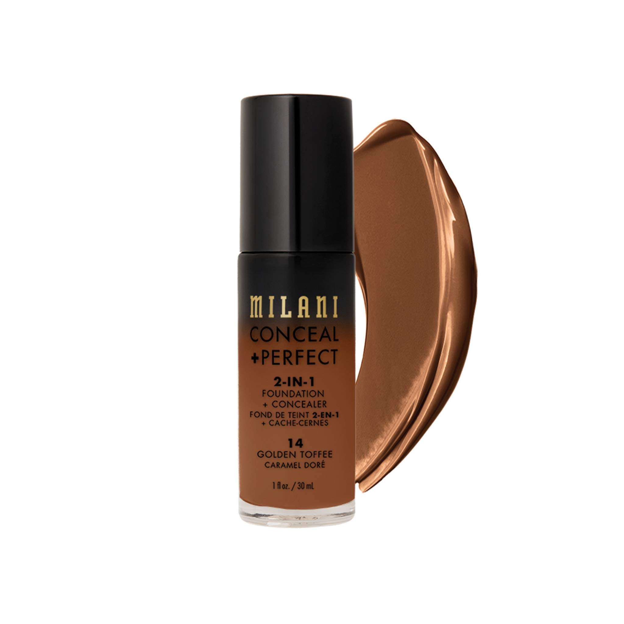 MILANI Conceal + Perfect 2-In-1 Foundation + Concealer - Golden Toffee