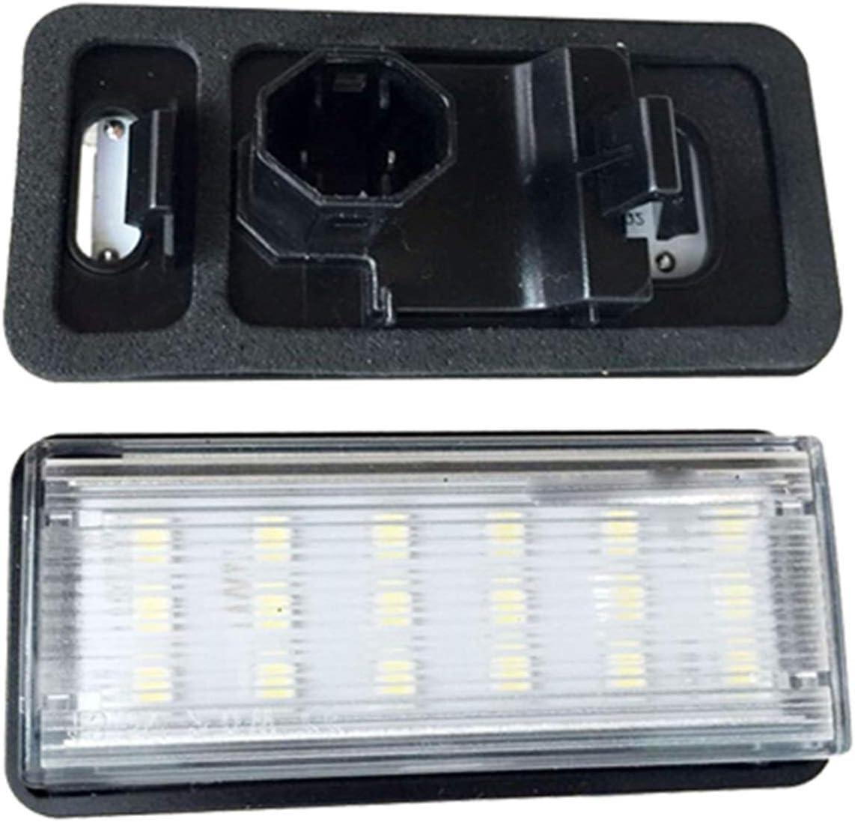 MMGANG® Placa del carnet de Conducir luz de la matrícula de luz for los Toyota Land Cruiser/Lexus GX470 81.270 a 60.330 (Color : White)