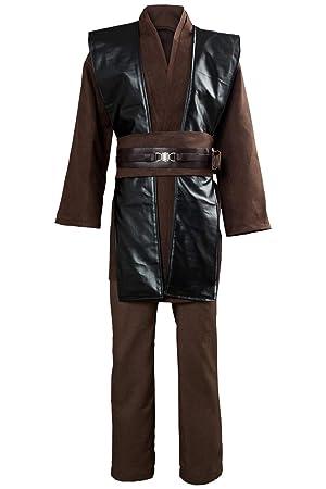 RedJade Anakin Skywalker Traje de Cosplay Disfraz Marrón - sin ...