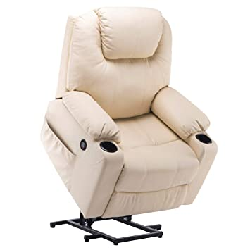 Mcombo Electric Power Lift Massage Sofa Recliner Heated Chair Lounge w/Remote Control USB...