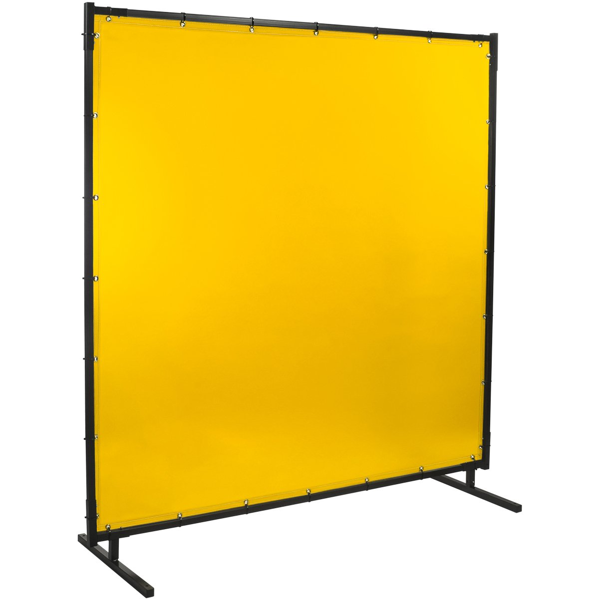 Steiner 534HD-6X6 Protect-O-Screen HD Welding Screen with Flame Retardant 14 mm Yellow Tinted Transparent Vinyl Curtain, 6' x 6'