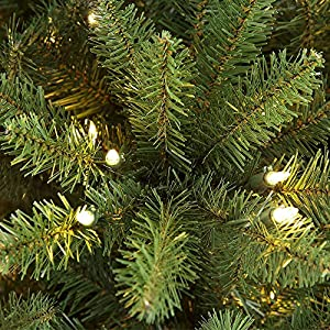 Puleo International 7.5 ft. Pre-Lit Slim Fraser Fir 500 Clear UL Listed Lights Artificial Christmas Tree Green 2