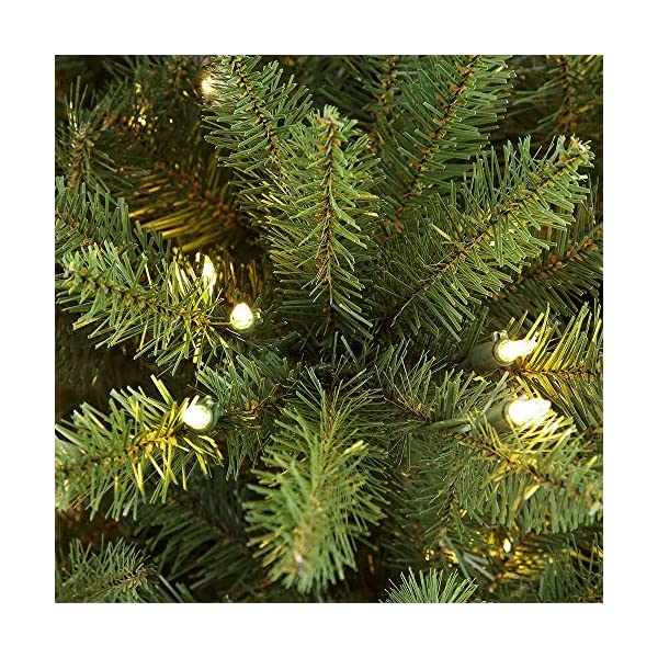 Puleo-International-75-ft-Pre-Lit-Slim-Fraser-Fir-500-Clear-UL-Listed-Lights-Artificial-Christmas-Tree-Green